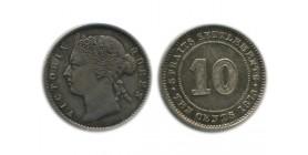 10 Cents Victoria Malaisie Argent