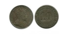 10 Cents Edouard VII Malaisie Argent