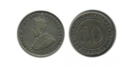 10 Cents Georges V Malaisie Argent
