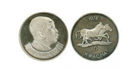 5 Kwacha Malawi Argent