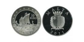 10 Euros Malte Argent