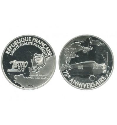 1 Euro 1/2 Vol au Dessus de L'atlantique