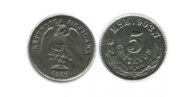 5 Centavos Mexique Argent