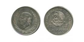 5 Pesos Mexique Argent