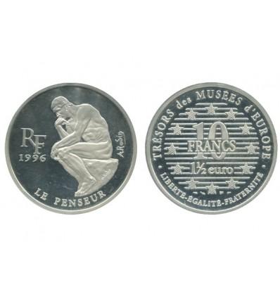 1 Euro 1/2 / 10 Francs le Penseur Les trésors des musées d'Europe