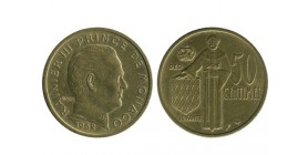 50 Centimes Rainier III Monaco