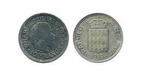 10 Francs Charles III Monaco Argent
