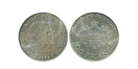 100 Francs Rainier III et Albert Monaco Argent