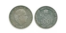 100 Francs Rainier III Monaco Argent