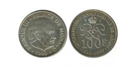 100 Francs Rainier III 50 Ans de Regne Monaco Argent