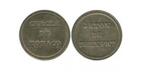 Cercle de Monaco Jeton de 2 Francs Monaco Argent