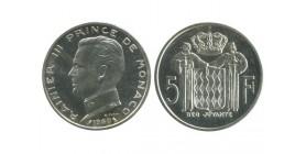 5 Francs Rainier III Monaco Argent