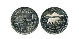 500 Roupies Népal Argent