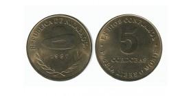 5 Cordobas Nicaragua