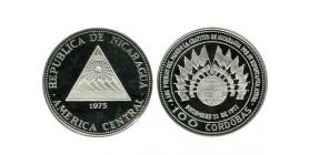 100 Cordobas Nicaragua Argent