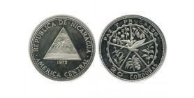 20 Cordobas Nicaragua Argent