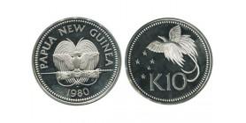 10 Kina Nouvelle Guinée Papouasie Argent