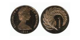 1 Cent Elisabeth II Nouvelle Zélande