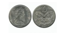 10 Cents Elisabeth II Nouvelle Zélande