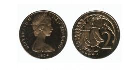 2 Cents Elisabeth II Nouvelle Zélande