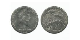 20 Centimes Elisabeth II Nouvelle Zélande