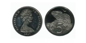 5 Centimes Elisabeth II Nouvelle Zélande