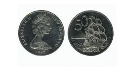 50 Centimes Elisabeth II Nouvelle Zélande