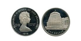 1 Dollar Elisabeth II Nouvelle Zélande Argent