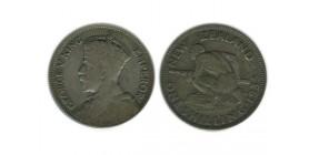 1 Shilling Georges V Nouvelle Zélande Argent