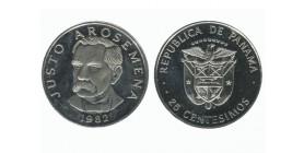 25 Centimes Justo Arosemena Panama
