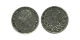 10 Cents Guillaume II Pays - Bas Argent