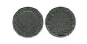 10 Cents Wilhemine Tête Jeune Pays - Bas Argent