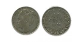 10 Cents Wilhemine Grosse Tête Pays - Bas Argent