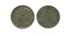 10 Cents Wilhemine Petite Tête Modifiée Pays - Bas Argent