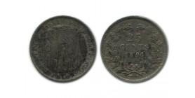 25 Cents Wilhemine Tête Jeune Pays - Bas Argent