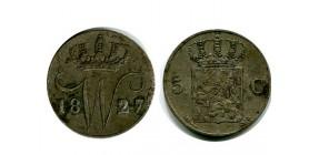 5 Cents Guillaume Ier pays - bas argent