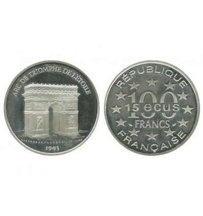 15 Ecus / 100 Francs Arc de Triomphe