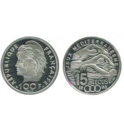 15 Ecus / 100 Francs Natation
