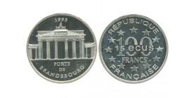 15 Ecus / 100 Francs Porte de Brandebourg