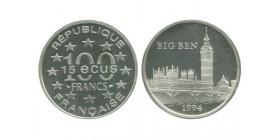 15 Ecus / 100 Francs Big Ben