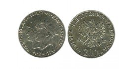 200 Zloty Pologne Argent