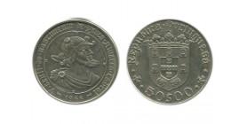 50 Escudos Portugal Argent