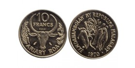 10 Francs République de Madagascar