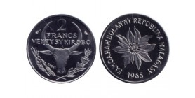 2 Francs République de Madagascar
