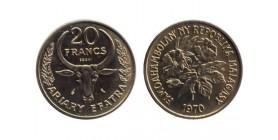 20 Francs République de Madagascar