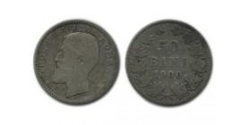 50 Bani Carol Ier Roumanie Argent