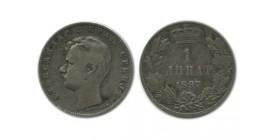 1 Dinar Alexandre Ier Serbie Argent