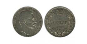 1 Dinar Peter Ier Serbie Argent