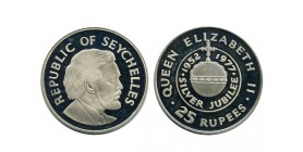 25 Roupies Elisabeth II Jubile Seychelles Argent
