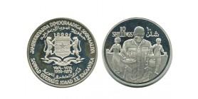 10 Shillings Somalie Argent